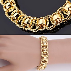 U7® New Bracelet Bangle 18K Real Chunky Gold Platinum Plated Bangle 12MM 21CM Jewelry Christmas Gifts