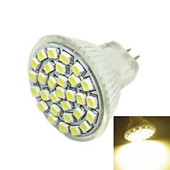 3W G4 / GU4(MR11) / GZ4 LED-spotpærer MR11 30 SMD 3528 180-240 lm Varm hvit DC 12 V