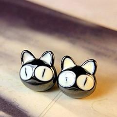 Lovely Big Eye Small Cat Patron Saint Stud Earrings