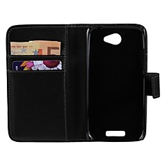 Solid Color PU Leather Full Body Protective Cover with Stand for HTC ONE S