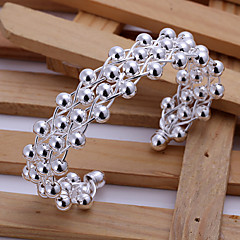 Silver Plated Bracelet Bangles Wedding/Party/Daily/Casual 1pc