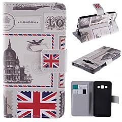 Mert Samsung Galaxy tok Kártyatartó / Állvánnyal / Flip / Minta / Mágneses Case Teljes védelem Case Zászló Műbőr Samsung A5