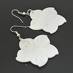 Earring Flower Drop Earrings Jewelry Women Wedding / Party / Daily Cowry White