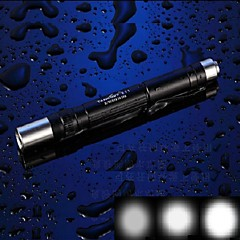 TANK007 E11 3-Mode 1x Cree XR-E Q5  LED Mini Penlight/Caplamp Flashlight (120LM, 2xAAA,Black)