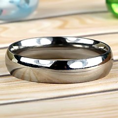 Men's Simple Stainless Steel Ring Silver  (1Pc)