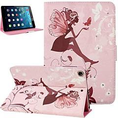 Mini Fairy Girl Inlaid Shiny Glitter Diamond PU Flip Protective Case Cover with Stand for iPad mini