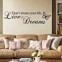 워드&인용구(부호) 벽 스티커 플레인 월스티커 데코레이티브 월 스티커,PVC 자료 이동가능 홈 장식 벽 데칼