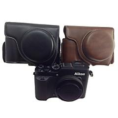 dengpin retro-PU-Leder-Kamera abnehmbare Schutzhülle Taschendeckel mit Tragegurt für Nikon Coolpix p7700 p7800