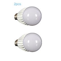 10W E26/E27 LED-globepærer G60 1 COB 900-1000 lm Varm hvid Justérbar lysstyrke Vekselstrøm 110-130 V 2 stk.