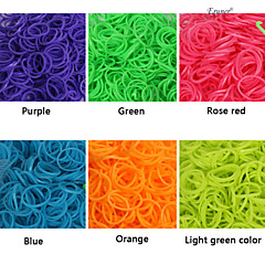 baoguang®600pcs 무지개 색 형광 패션 베틀 고무 밴드 (1package의 클립, 모듬 색상)를 직기