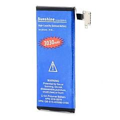 høj kapacitet 3.7V nominel kapacitet 3030mah li-ion batteri til iPhone 4S