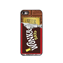 étui rigide chocolat design en aluminium pour iPhone 5 / 5s