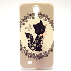 Black Butterfly Pattern TPU Soft Case for S4 I9500
