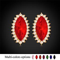 U7®Rhinestone Eyes Stud Earrings 18K Real Gold Plated 7 colors Fancy Stone Earrings Fashion Jewelry