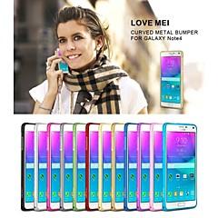 Voor Samsung Galaxy Note Ultradun hoesje Bumper hoesje Effen kleur Metaal Samsung Note 4
