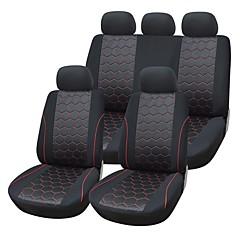 """9 חתיכות / מושב מכונית להגדיר מכסה חומר אקארד חומר מתאים אוניברסלי עם אביזרי רכב ספוג מרוכבים 3 מ""""מ"""