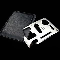 utendørs multi-funksjons overlevelse aluminium kort og verktøy