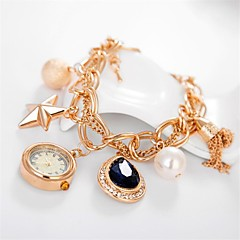 Women's Luxury heart-shaped diamond pearl Bracelet Watch Circular High Quality Japanese Watch Movement