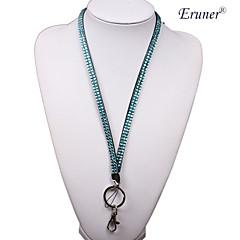 erunerroyal colbalt 모조 다이아몬드 크리스탈 블링 목 매는 밧줄 홀더 키&전화 채널 (임의의 색)