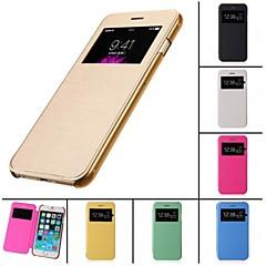 contact Voir le back flip étui transparent du corps complet pour iPhone 4 / 4S (de couleurs assorties)