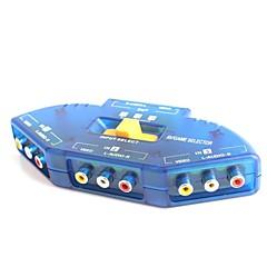 3-in-1-out av audio-video-signaal switcher voor DVD / VCD / tv spel