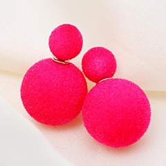 Stud Earrings Fabric Alloy Star Jewelry For Party Daily Casual