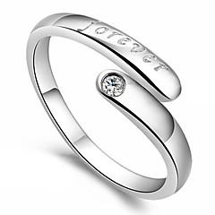 Kadın İfadeli Yüzükler Aşk Kalp Ayarlanabilir Açık Som Gümüş Heart Shape Mücevher Uyumluluk Parti