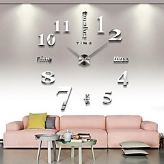 2015 3d stor mental home decor diy kreative personlighed vægur til stuen 12s015-s