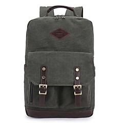 KAUKKO Simple College Canvas Backpack
