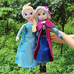 Sparkle Princess Elsa and Anna Stuffed Soft Plush Doll (2pcs 21 Inch)