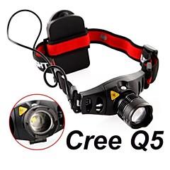 Lampes frontales Mode 300 Lumens Faisceau Ajustable / Etanche / Résistant aux impacts Cree XR-E Q5 AAACamping/Randonnée/Spéléologie /