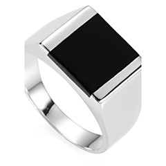 Fashion 925 Sterling Silver Resin Ring