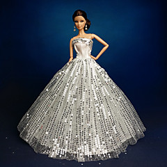 Wedding Dresses For Barbie Doll Silver Dresses