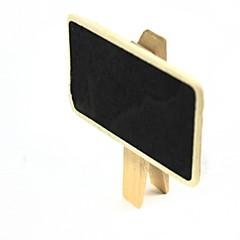 liten tavla mönstrade klipp - trä + svart (2 st)