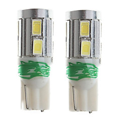 zweihnder t10 6w 500lm 6000-6500 k 10x5730 SMD weiße Glühlampe für Auto Leselampe (12V, 2 Stück)