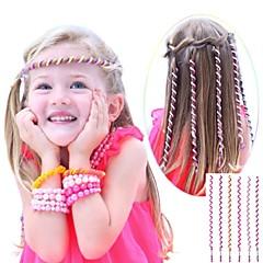 De 6 stuks 24cm roze kinderen krullend haar touw