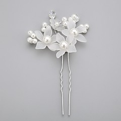 Women's / Flower Girl's Crystal / Alloy / Imitation Pearl / Acrylic Headpiece-Wedding / Special Occasion Hair Pin
