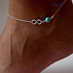 Eruner®Lady Blue Turquoise Bead Infinity Silver Chain Beach Sandal foot Anklet Bracelet