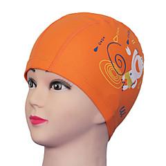 Youyou Kid's Cartoon Waterproof Ear Protection Wearable PU Swimming Cap