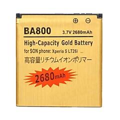YI-YI™ソニーのXperia Sのためba800の3.7Vの2680mahの充電式リチウムイオンバッテリー/ lt26i / lt25c / lt25i