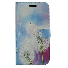 Dandelion Flowers PU Leather Full Body Wallet Protective Case with Stand for Samsung Galaxy S Advance I9070