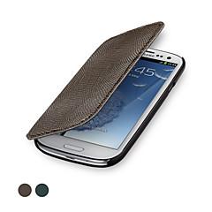 ggmm® couro genuíno flip-s do glam tampa da caixa protetora para Samsung Galaxy SIII (cores sortidas)
