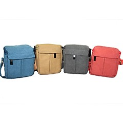Dengpin Canvas Camera Messenger Shoulder Bag Case for Sony A6000 A5100 Canon EOS M2 Panasonic GF6 Samsung NX3000