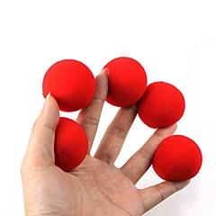 magiczne rekwizyty - czerwone kulki z gąbki (5 szt)
