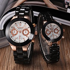 Couple's Classic Design Ceramic Band Wristwatch (Assorted Colors)