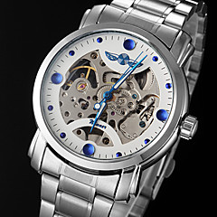 WINNER® Men's Watch Automatic self-winding Skeleton Watch Hollow Engraving Stainless Steel Band Cool Watch Unique Watch