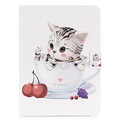 รูปแบบแมวที่น่ารักหนัง PU กรณีที่ร่างกายเต็มรูปแบบสำหรับแท็บกาแลคซีซัมซุง 3 10.1 P5200