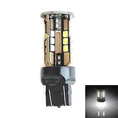 HJ 7443 10W 900LM 5500-6000K 30x2835 SMD LED White Light Bulb for Car Brake Light (12-24V,1 Piece)