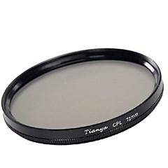 Tianya 72mm cpl Filtre polarisant circulaire pour Canon 18-200 15-85 17-50 lentille 28-135mm