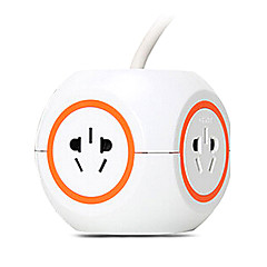 CHNT Extension Socket with 3M GB Plug AC Power Cable Orange